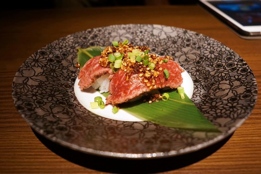 神戸牛のあぶり寿司